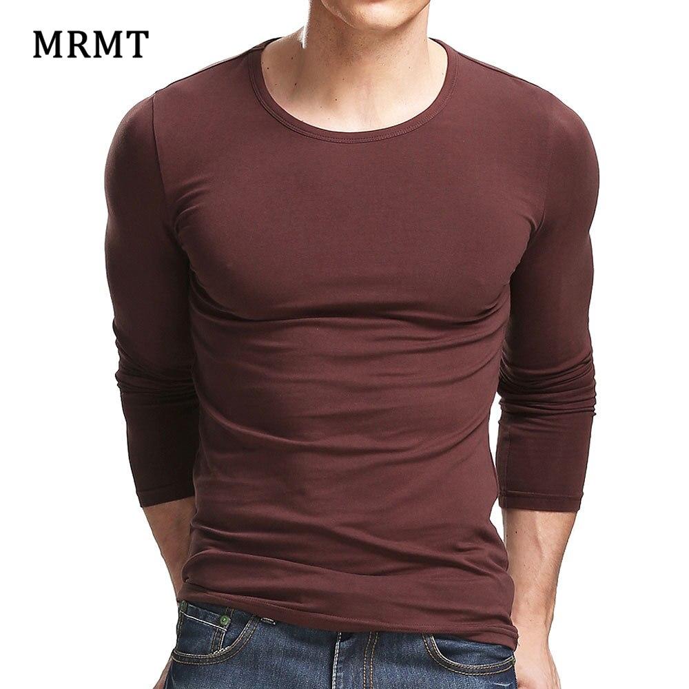 MRMT 2019 Lycra Cotton Men'S T-Shirt 5XL Long Sleeved T Shirt Men Pure Color Casual Mens Long Sleeve Tshirt For Male
