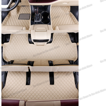 lsrtw2017 leather car floor mats for toyota highlander 2007-2020 2018 2017 2016 2015 2014 2013 2012 2011 2009 2008 accessories