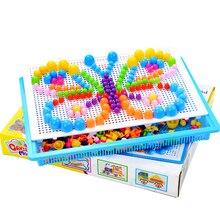 296 шт цветные в коробке 3D головоломки игры головоломки гриб ногтей головоломки Забавные обучающие игрушки для детей Дети Plzzles