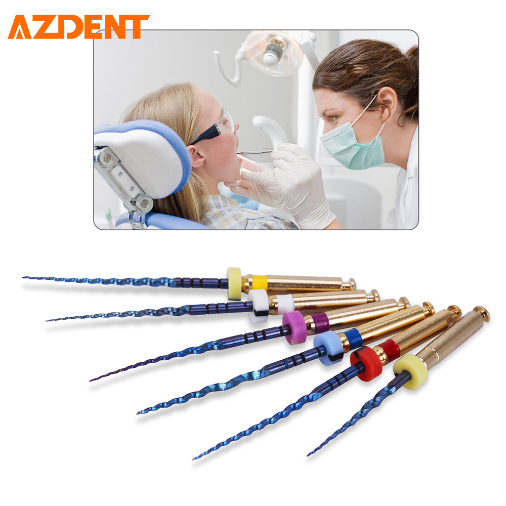 6Pcs/Box Rotary Heat Activated Canal Root Files Dental Lab Clinic Endodontic File Medical Dentist Consumable Material SX-F3 25mm