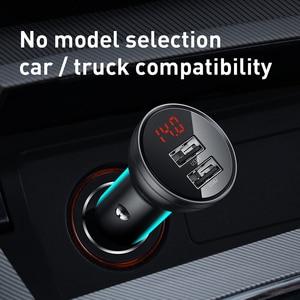 Image 5 - Baseus المعادن شاحن سيارة 5 فولت 4.8A المزدوج USB شاحن مع LED عرض العالمي الهاتف المحمول شاحن آيفون هواوي شاومي