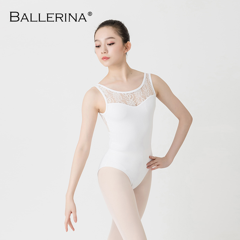 Ballet Leotards For Women Yoga Sexy Aerialist Dance Costume Lace Mesh Gymnastics Sleeveless Leotards Ballerina 5641