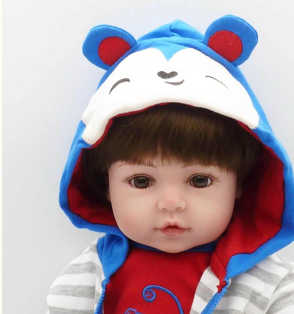 سلسلة كاملة 47 سنتيمتر فاتنة ولادة جديدة سيليكون دمية سوبر واقعية طفل صبي طفل دمية دمية فتاة عيد الميلاد لعبة لول هدية