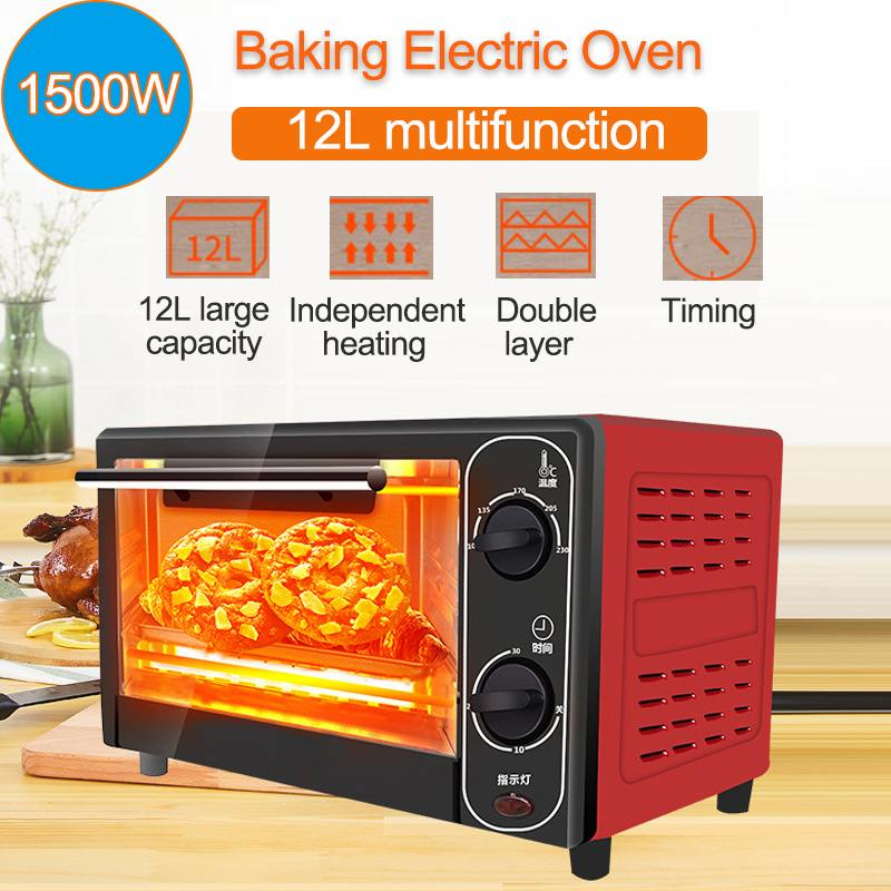 1500W 12L Household Mini Electric Oven Bread Baking Machine Intelligent Timing Baking Home Life Kitchen Bread Toaster