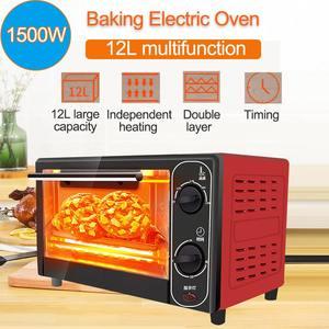 1500W 12L gospodarstwa domowego Mini piekarnik elektryczny maszyna do pieczenia chleba inteligentny czas pieczenia domu życia kuchnia toster do chleba