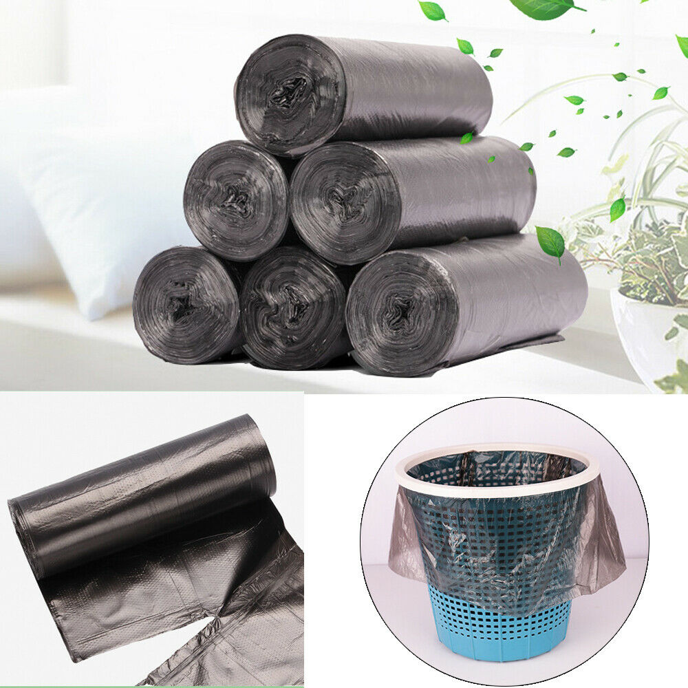 5 Rolls/lot Small Garbage Bag Trash Bags Thickened Trash Bags Durable Disposable Plastic Home Kitchen Tool