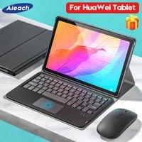 Funda para Huawei Matepad 10,4 10,8 T10s T10, carcasa con teclado y ratón para Huawei Mediapad M5 Lite T5 10 M6 Pro 10,8