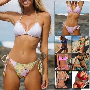 2020 Sexy Women Bikini Set Brazilian Swimsuit Push-up Bra Two Piece Swim Suit Swimwear Beachwear Bathing Maillot De Bain Femme