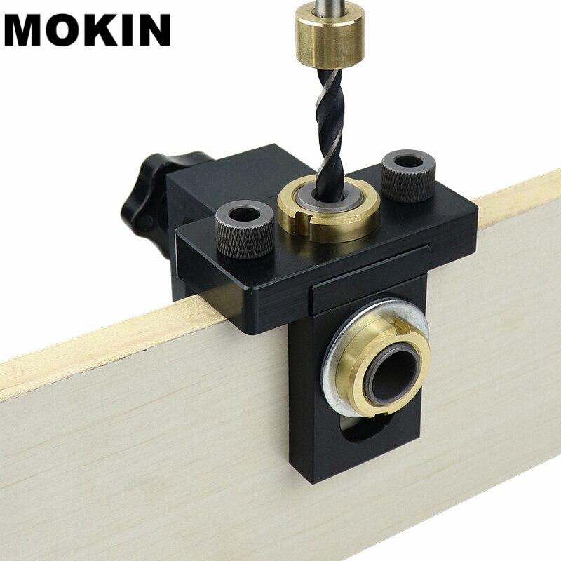Doweling Jig Tasche Loch Jig Kit Holz Vertikale Bohren Abnehmbare Locator Für Möbel Anschluss Loch Puncher Zimmerei Werkzeuge