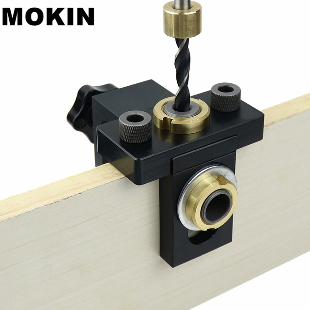 Doweling ジグポケット穴ジグキットウッド垂直掘削取り外し可能なロケータ家具接続穴パンチャー大工ツール