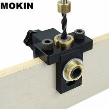 Gabarito para cavilha de madeira, kit de gabarito de bolso localizador vertical para perfuração de móveis ferramentas de carpintaria
