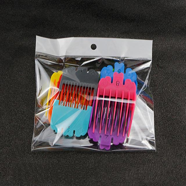 10 pièces tondeuse à cheveux universelle limite peignes Guide fixation taille électrique pousser accessoires de rechange limite peigne