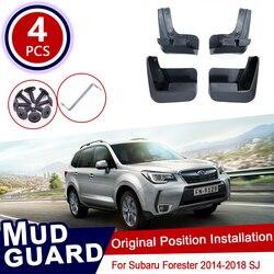 for Subaru Forester SJ 2014 2015 2016 2017 2018 Car Mud Flaps Front Rear Mudguard Splash Guards Fender Mudflaps Flap Accessories