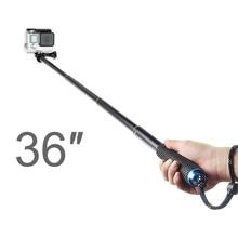 36 Inch Extendable Handheld Pole Telescopic Selfie Monopod Stick for GoPro Hero 9 8 7 6 5 4 3+ Xiaomi Yi Go Pro Accessories