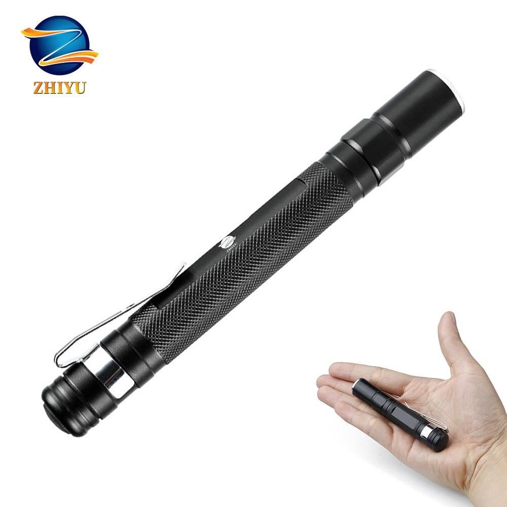 ZHIYU New Mini LED Flashlight XPE Q5 2000LM Ultra Bright Lamp Handy Penlight Torch Pocket Portable 1 Mode Lantern Camping Work