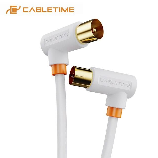 CABLETIME TV Kabel 90 grad Digital TV Linie Satellite Antenne Hohe Qualität STB für HD Fernsehen Video Linie C317