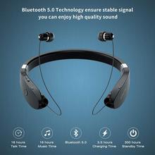 Amorno Neckband Earphones Wireless Fone Bluetooth Headphones with Mic Handsfree TWS Earbuds