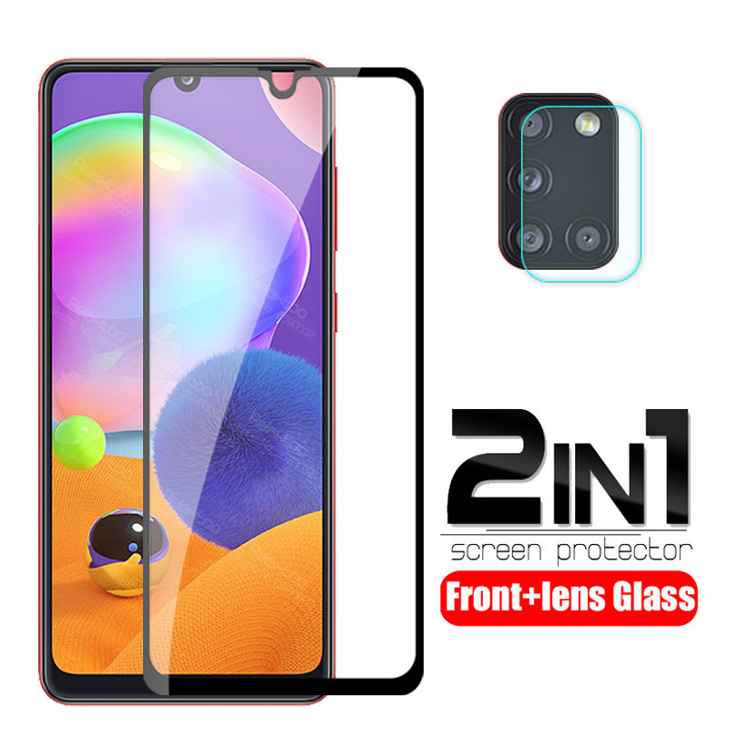 2 In 1 Camera Lens Protective Glass For Samsung Galaxy A31 A315F Sm-a315F A 31 2020 Screen Protector Safety Armor Tempered Film