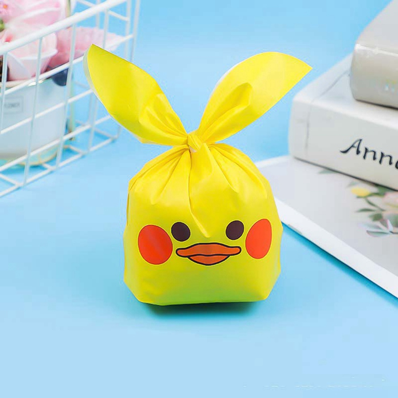 50 PCS Cute Bunny Duck Packaging Candy Cookie Rabbit Long Ear For Sweets Party Goodie Packing Wedding Cake Bags Gift Bag Present