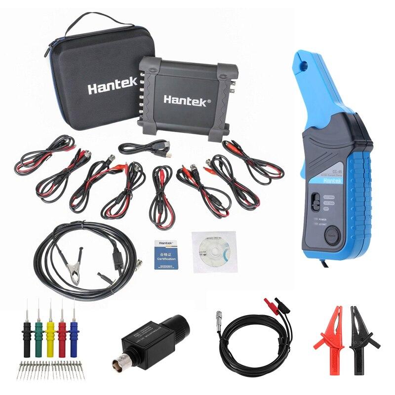 Hantek osciloscópio 1008c, osciloscópio automático usb/daq/8ch para teste de veículo, kit de osciloscópio 1008c