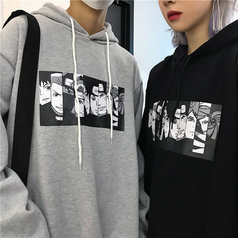 Men's Hoodies Naruto Harajuku Unisex Hoodie Japanese Anime Funny Printed Fun Streetwear Fashion Casual Male's Sweatshirt Coats