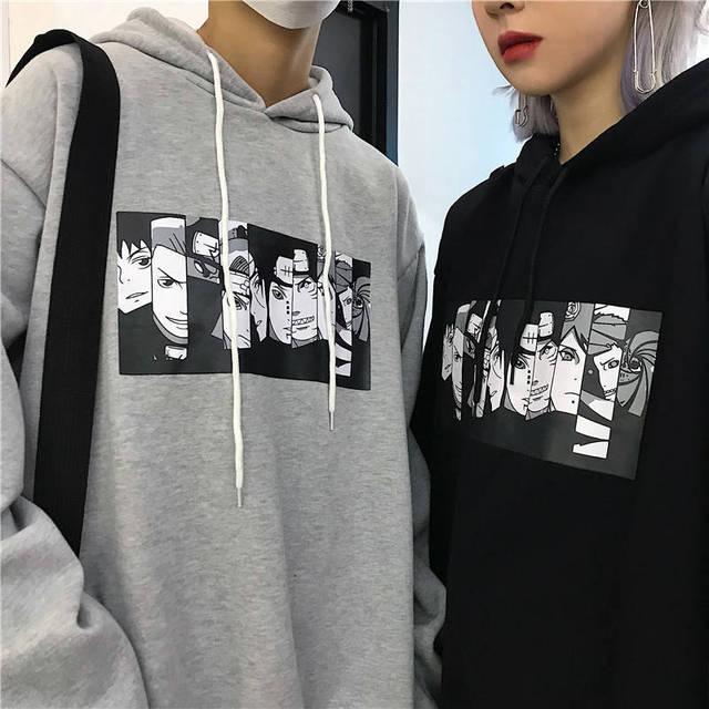Men s Hoodies Naruto Harajuku Unisex Hoodie Japanese Anime Funny Printed Fun Streetwear Fashion Casual Male s sweatshirt Coats