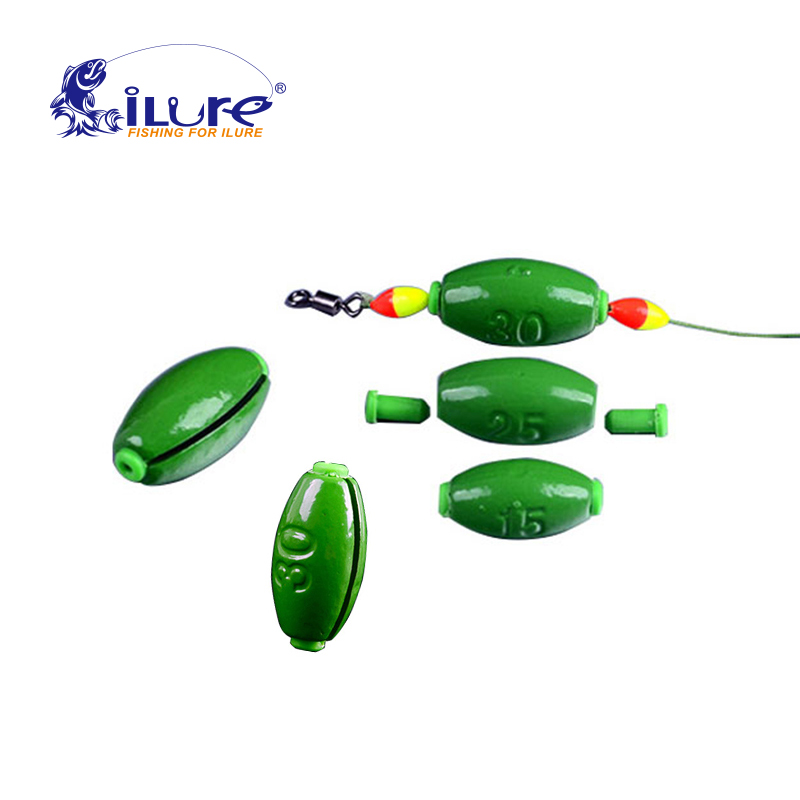 ILure 10pcs/lot Top Quality Drop Water Lead Sinkers Swivels Fishing Lead Weight Fishing Lead Sinker Lures Weight Accessories