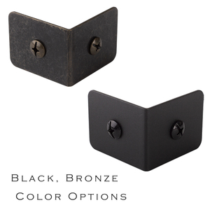 Image 2 - Black and Bronze Color Options Iron metal corner Bracket protector with free screws for Table or Cabinet Top Panel Leg etc