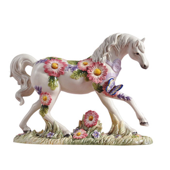 Modern Ceramic Horse Sculpture Desktop Handmade Art Crafts Ornament Household Home Decoration Friends Couples Birthday Gift