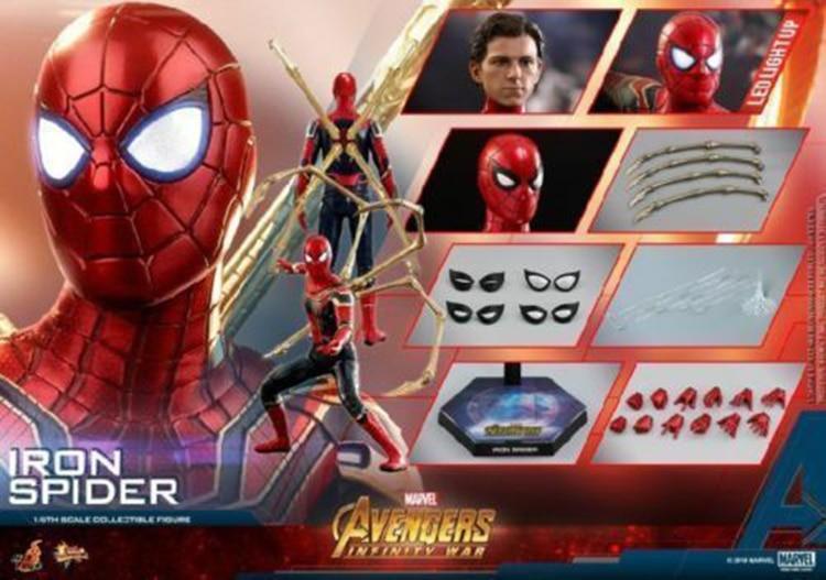 Brinquedos quentes MMS482 Collectible 1/6 Guerra Figura Coleção Vingadores 3 Infinito Guerra Modelo de Brinquedo Do Homem Aranha de Ferro para Presentes dos Fãs - 6