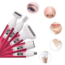 5 in 1 Women Epilator Female Eyebrow Trimmer Lady Shaver For Hair Removal Shaving Machine Face depilador Bikini Depilatory P40