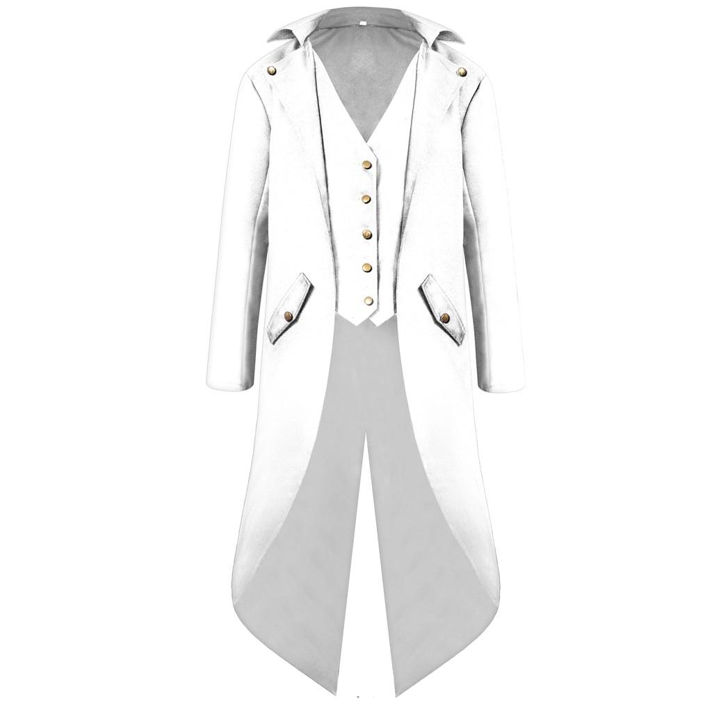 H7b76ef5a99704124b739fdd2cc16b2d99 vintage Medieval Robe Cosplay Costume vintage men's trench Men's Coat Tailcoat Jacket Gothic Frock Coat Uniform Praty Outwear#g3
