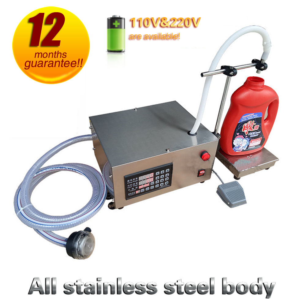 Free Shipping Liquid Filling Machine 110v 220v Single Head Weighing And Filling Machine For Alcohol, Soy Sauce, Beverages