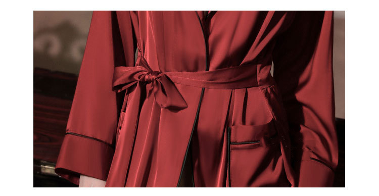 CINOON Satin Robe Female Intimate Lingerie Sleepwear Silky Bridal Wedding Gift Kimono Bathrobe Gown Nightgown Sexy Nightwear (3)