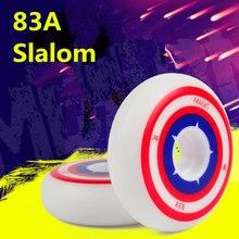 Roda slalom com original hyper grip h + g patins inline roda qualidade 83a durável desempenho do plutônio fsk capitão américa 80mm rodas