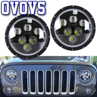 7 Projector Head Lamp Off Road 4x4 SUV 7inch 60W Car Led Headlight For Jeep Automobiles Motorcycle