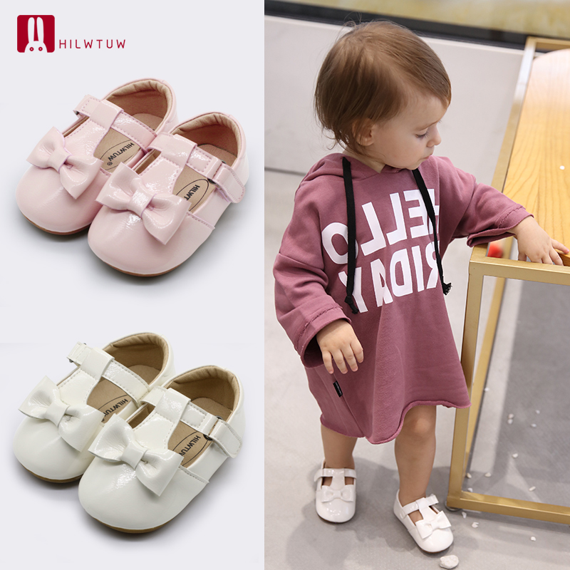 Baby Girls Boys Soft Comfortable Outdoors Shoes Butterfly Knot First Step Shoes Brand Anti-slip Toddler Shoe Bebe First Walkers