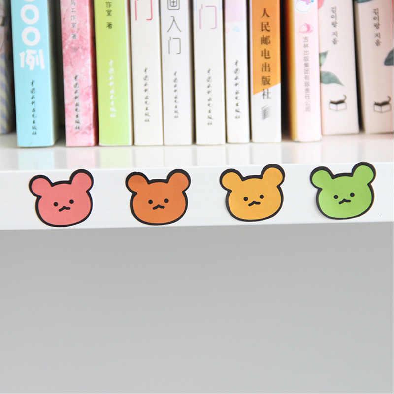 귀여운 만화 곰 돌보는 고양이 발 스티커 컬러 손 계정 장식 벽 스티커 캠퍼스 편지지 사용자 정의 스티커