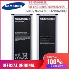 Con NFC 100% batería Original EB-BN910BBE EB-BN910BBK para Samsung Galaxy NOTE4 N910a N910V N910C Nota 4 N910u N910F N910H NFC