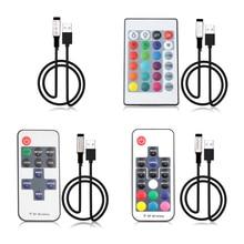 5 в 12 В 24 в USB Светодиодная лента светильник s RGB USB RF пульт дистанционного управления 5 12 24 В вольт USB Светодиодная лента светильник 3 11 17 24 ключ дистанционного управления беспроводной