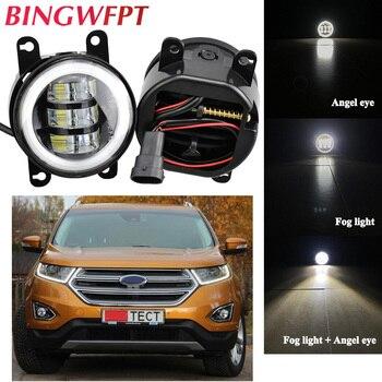 Car Accessories H11 LED Fog Light Angel Eye 12V For Ford Edge 2016 Focus MK2/3 Fusion Fiesta Tourneo Transit 2001-2015 - discount item  20% OFF Car Lights