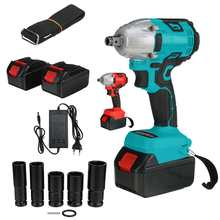 520N.m 388Vf Cordless Brushless Electric Wrench Impact Wrench Socket Wrench 2x 15000Mah Li-ion Battery Hand Drill Installation