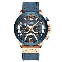 Повседневные спортивные часы для мужчин синий топ люксовый бренд военные наручные часы кожа мужчины часы мода хронограф наручные часы