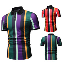 Dropshipping 2019 New Summer Polo Shirt Men Casual Turn-down Collar Patchwork Polos Fashion Clothes