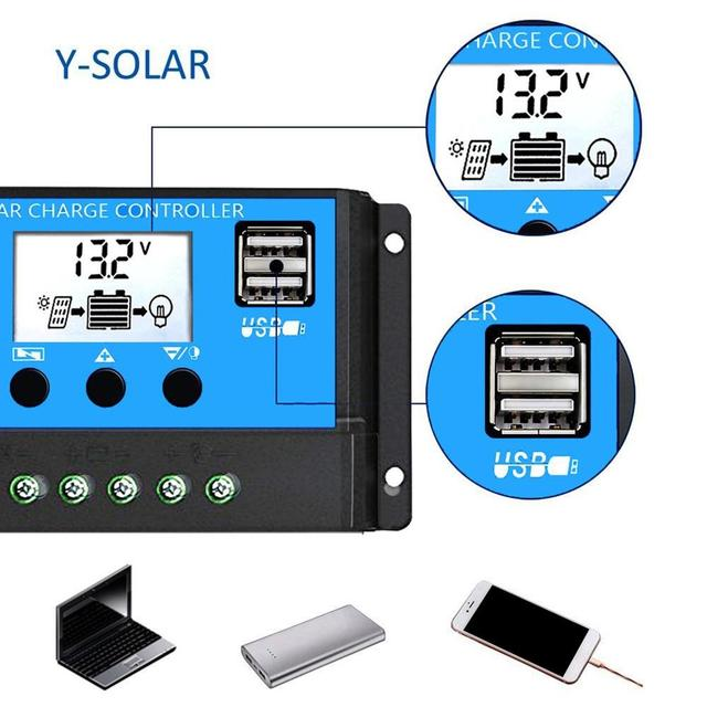 Купить шим контроллер заряда солнечной батареи с жк дисплеем двойным картинки цена