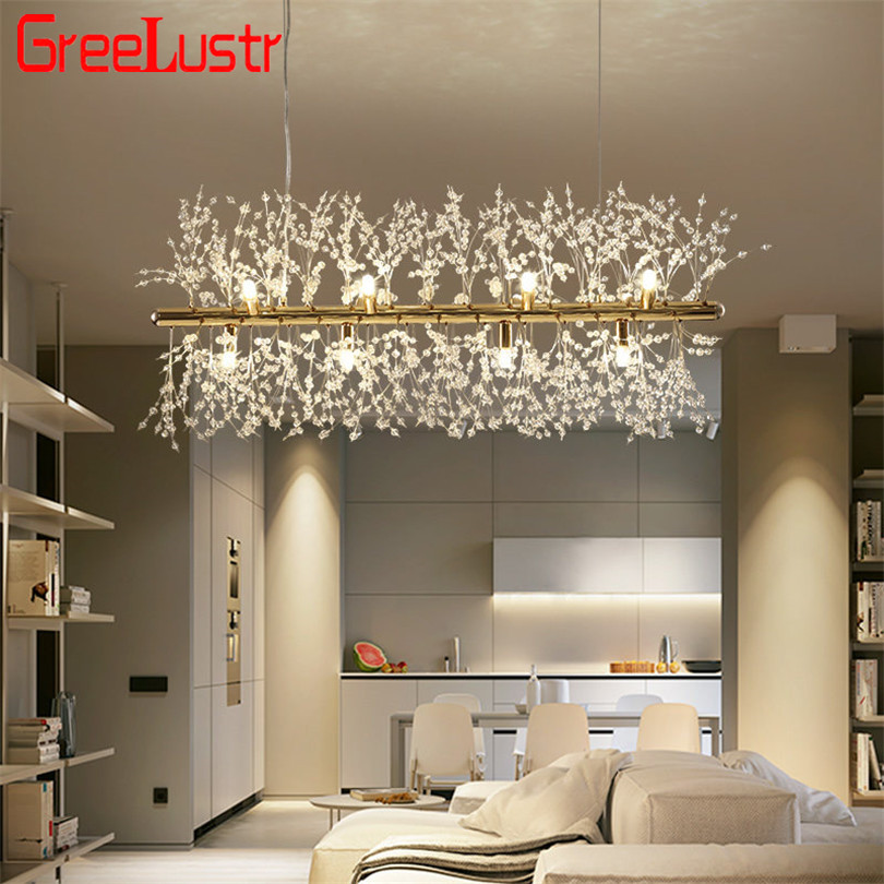 Nordic Loft Dandelion Led Chandeliers Creative Crystal Spark Ball G9 Led Chandelies Light Fixture For Living Room Decor Lighting