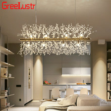 Nordic Loft Dandelion Led Chandeliers Creative Crystal Spark Ball G9 led Chandelies Light Fixture for Living Room Decor Lighting