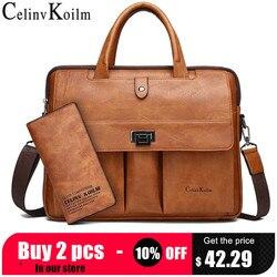 Maletín Celinv Koilm para hombre, tamaño grande, 14 pulgadas, bolsas para ordenador portátil, bolso de viaje de negocios, bolso de negocios para hombre, bolso de mano para A4 Files
