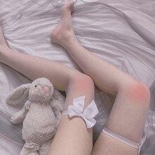 Japanese Socks Rainbow Vinyl Thigh Designer Stockings Over Long Women Ladies Red