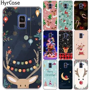 Feliz Navidad suave cubierta TPU para Samsung Galaxy A7 A6 A8 más A3 A5 A9 A7 2018 2017 A10 a20 A30 A40 A50 A60 A70 A80 A90
